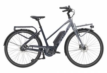 Bicicleta eléctrica urbana Trek District + 2 Stagger Shimano Nexus 7V 400wh Azul Marino / Gris 2020