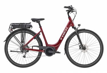 V lo de Electric City Trek VERVE + 1 LOWSTEP Shimano Altus 8V 400hw Rojo 2020