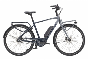 Vélo de Ville Électrique Sportif Trek District+ 2 400wh Shimano Nexus 7V Bleu / Gris 2020