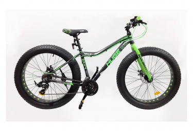 Image of Velo 26 rigide fat bike huge 18 vitesses double freins a disque shimano tout terrain