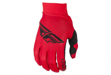 Fly Racing Pro Lite Youth Long Gloves Red Black