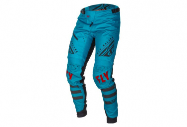 Fly Racing Kinetic Bicycle Youth Pants Teal Blue Black