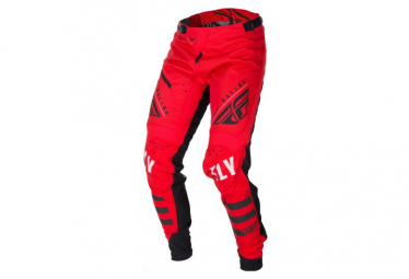 Fly Racing Kinetic Bicycle Youth Pants Red Black