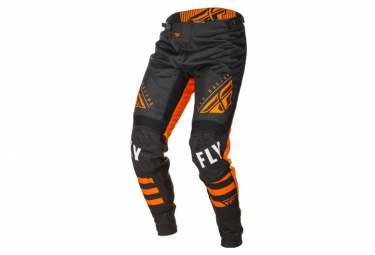 Fly Racing Kinetic Bicycle Youth Pants Black Orange