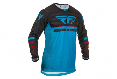 Fly Racing Kinetic K120 Youth Long Sleeve Jersey Blue Black Red