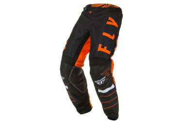 Pantalon Enfant Fly Racing Kinetic K120 Noir Orange Blanc