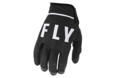 Fly Racing Lite Youth Long Gloves Black White