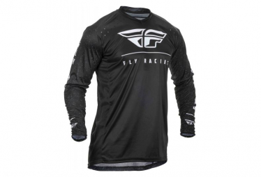 Fly Racing Lite Long Sleeve Jersey Black White