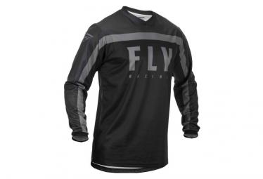 Fly Racing F-16 Long Sleeve Jersey Black Grey