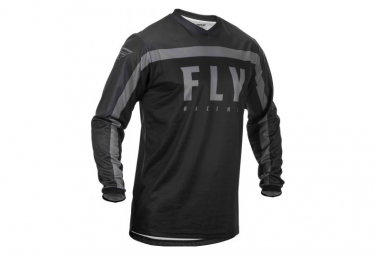 Fly Racing F-16 Youth Long Sleeve Jersey Black Grey