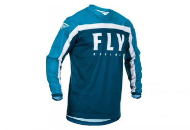 Fly Racing F-16 Long Sleeve Jersey Blue White