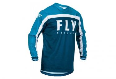 Camiseta De Manga Larga Fly Racing F 16 Youth Azul Blanco Kid M