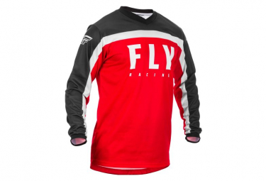 Fly Racing F-16 Long Sleeve Jersey Red Black White