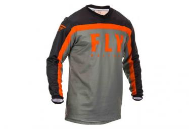 Fly Racing F-16 Long Sleeve Jersey Grey Black Orange