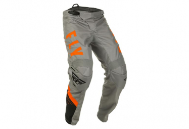 Fly Racing F-16 Youth Pants Grey Black Orange