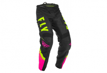Fly Racing F-16 Youth Pants Neon Pink Black Neon Yellow