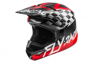 Fly Racing Kinetic Sketch Youth Full Face Helmet Red Black Grey