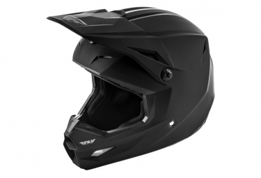 Fly Racing Kinetic Solid Youth Full Face Helmet Matte Black