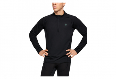 Under Armour Rush Coldgear Run Half Zip Long Sleeve Shirt Black L
