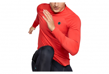 Maillot Manches Longues Under Armour Rush ColdGear Mock Rouge