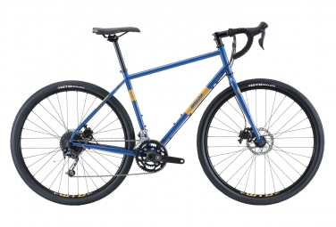Breezer Radar Expert Gravel Bike Shimano Sora 9S 700 mm Denim Blue Yellow 2020