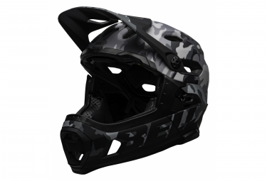 Bell Super DH Mips Helmet with Removable Chinstrap Black Grey Camo