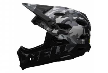 Casque avec Mentonnière Amovible Bell Super DH Mips Noir Gris Camo 2021