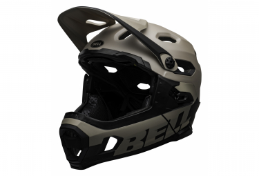 Bell Super DH Mips Helmet with Removable Chinstrap Grey Sablo Black