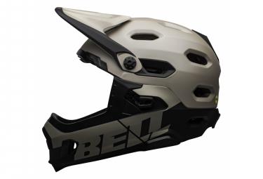 Casque avec Mentonnière Amovible Bell Super DH Mips Gris Sable Noir 2021