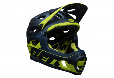 Bell Super DH Mips Helmet with Removable Chinstrap Blue Yellow 2021