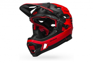 Bell Super DH Mips Helmet with Removable Chinstrap Red Black