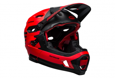 Bell Super DH Mips Helmet with Removable Chinstrap Red Black 2021