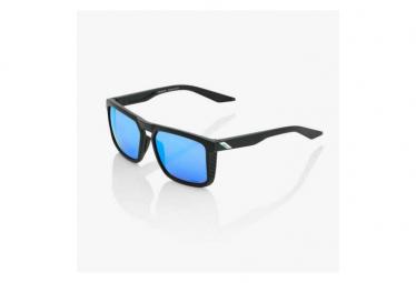 100% Renshaw Matte Black Brille HiPER Blue Multilayer Lens Mirror / Schwarz / Blau