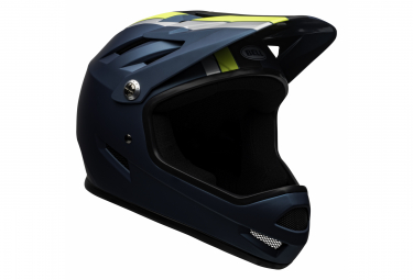 Bell Sanction Full Face Helmet Blue Yellow 2020