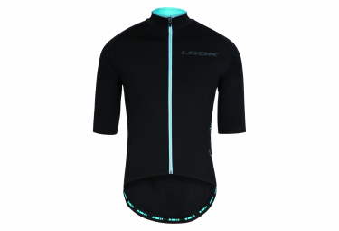 Look LMment Water-Resistant Short Sleeve Jersey Black Blue