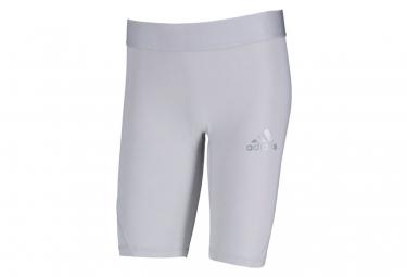 Short de compression gris clair homme Adidas Alphaskin