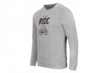 Marcel Pignon Sweatshirt '' I Want to Ride '' Gray