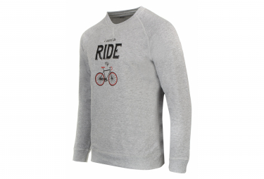 Sweatshirt Marcel Pignon ''I Want to Ride'' Gris