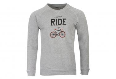 Sweatshirt Marcel Pignon ''I Want to Ride'' Gris