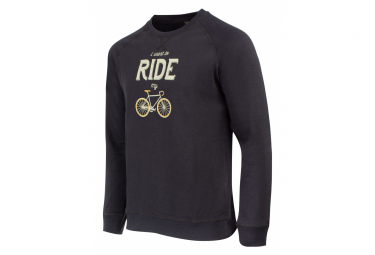 Marcel Pignon Sweatshirt '' I Want to Ride '' Black