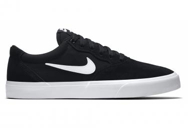 Par De Zapatos Nike Sb Chron Solarsoft Negro Blanco 44