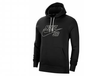 NIKE SB Skate EMBROIDERY Sweatshirt Black White