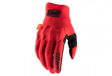 Lange Handschuhe 100% Cognito D30 Rot / Schwarz