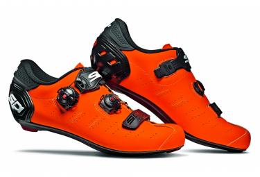 Chaussures Route Sidi Ergo 5 Mat Orange Noir