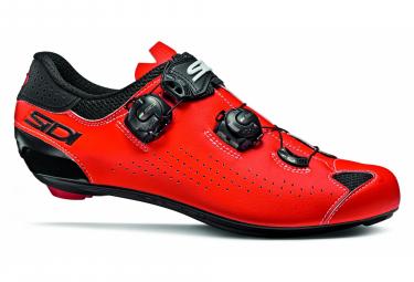 Chaussures Route Sidi Genius 10 Rouge Noir