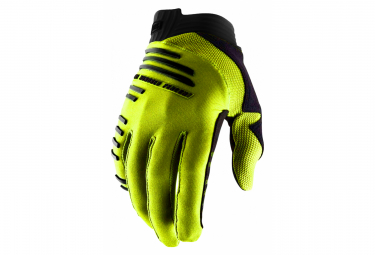 Guantes largos 100% R-Core Yellow Fluo