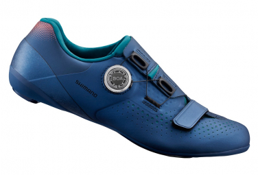 Pair of Road Shoes Shimano RC500 Navy Blue