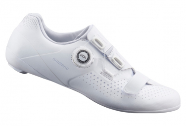 Paar Shimano RC500 Rennradschuhe Weiß