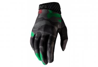 100% Ridefit Camo / Schwarze Handschuhe