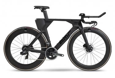 Vélo de Triathlon BMC Teammachine 01 Disc One Sram Force eTap AXS 12V 2020 Noir / Noir